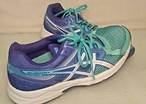 Asics-Gel-Contend-3-Women-039-s-Blue-Purple-Running-Sneakers-Shoes-T5F9N-Size-US-8-5