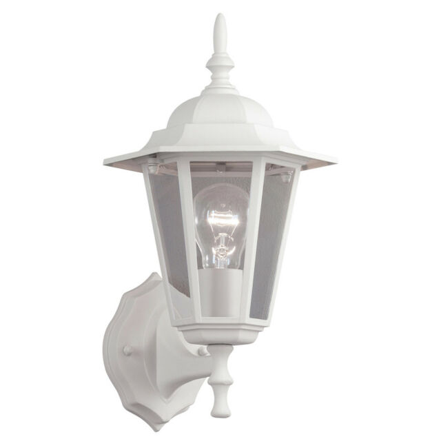 white outdoor wall lights led up portfolio 14 14in sand white outdoor wall light lantern fixture
