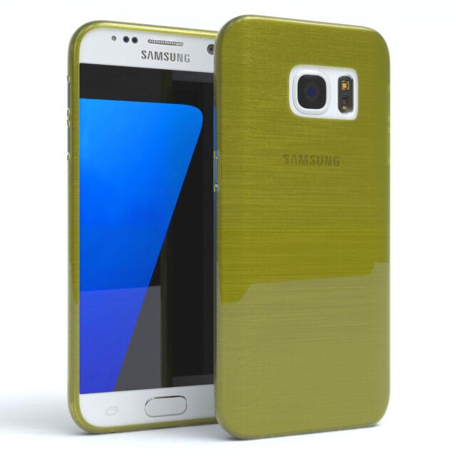 Schutz Hülle für Samsung Galaxy S7 Brushed Cover Handy Case Grün
