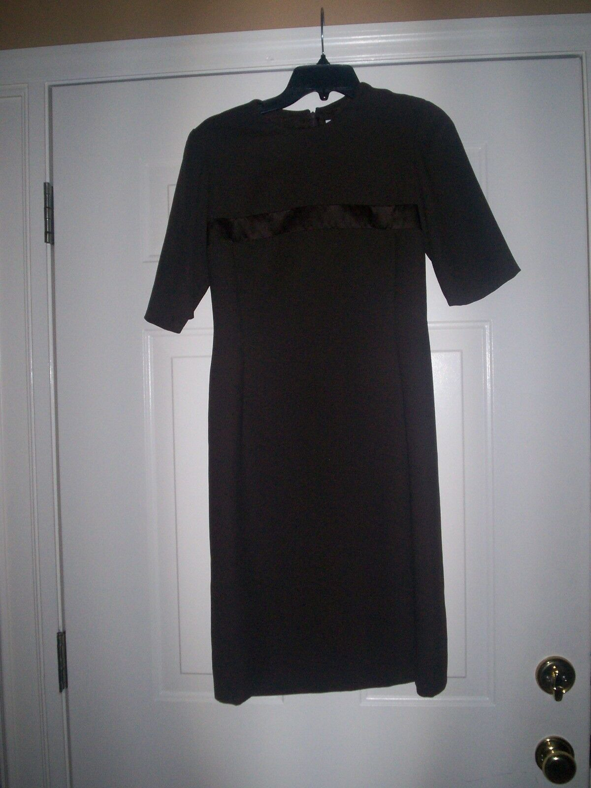 Carolina Herrera Neiman Marcus Vintage braun Wool Nylon Dress damen 8