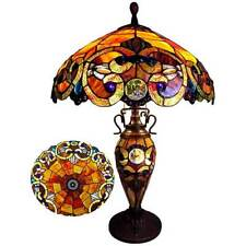 Dale Tiffany Table Lamp Shade Beaded Beads Ruby Red Antique