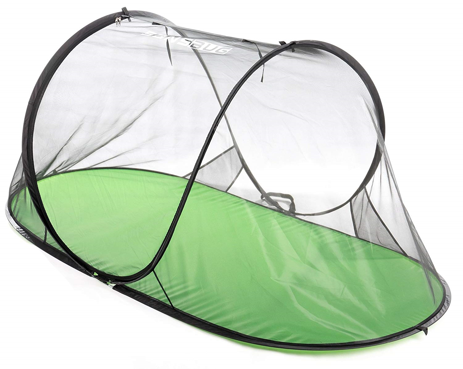 SANSBUG 1-Person Free-Standing Pop-Up Mosquito-Net All-Mesh, Poly Floor