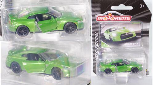 Majorette 212054008 Nissan GT-R gelbgrünmetallic LIMITED EDITION Serie 3