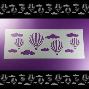 Details Zu Bordüre Schablone Heißluftballon Wolken Ballon Balloon B2b41