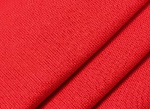 Stoff UNI Bündchen leicht gerippt Rot 110 cm breit im Schlauch x 25 cm