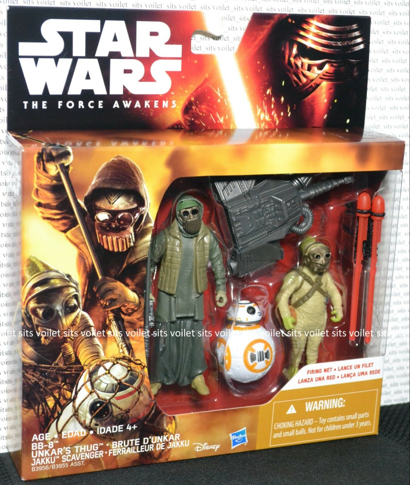Star Wars The Force Awakens 3.75  Figures BB-8 Unkar's Thug Jakku Scavenger