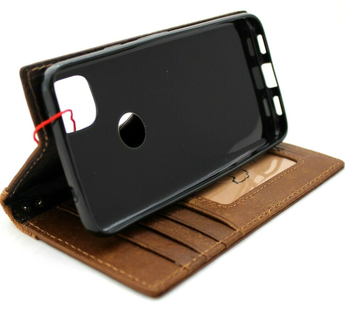 Image 41 - Genuine Real Leather Case for Google Pixel 4A 4G Book Wallet Cover soft Luxury 4