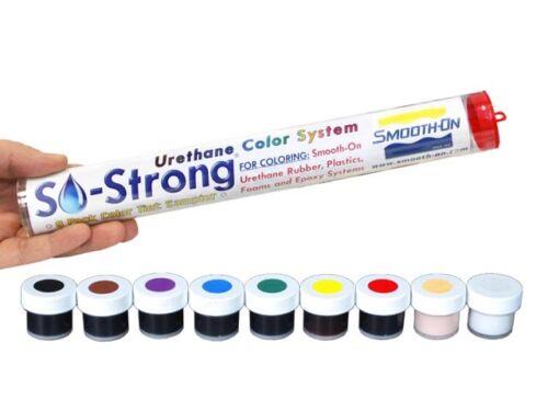 Smooth-on SO-Strong 9 Color Sampler Kit! Pigment For Resin Foam Etc