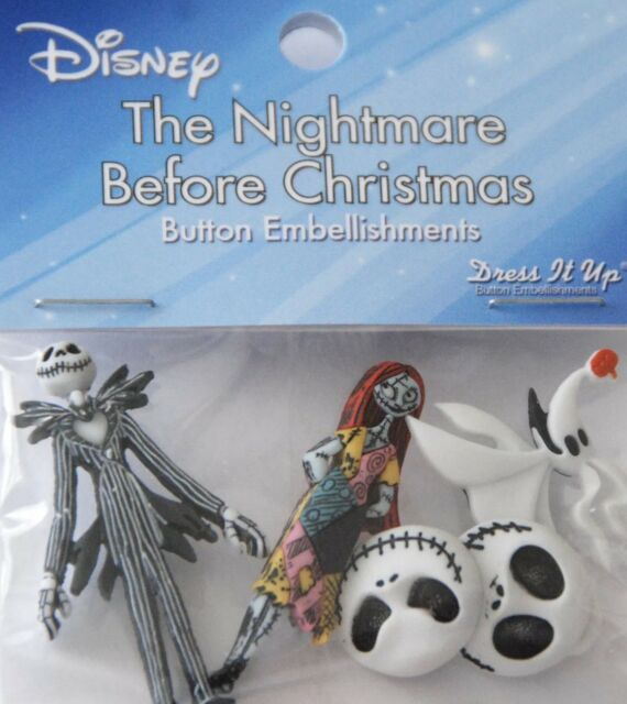 Dress It Up 7737 Disney Button Embellishments Nightmare Before Christmas