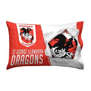 St-George-Illawarra-Dragons-NRL-Pillow-Case-Pillowcase-Birthday-Gift-NEW-2018