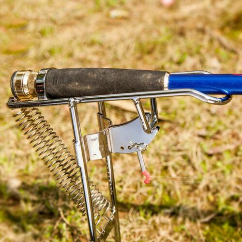 Smart Fish Catcher Automatic Retriever Spring Fish Rod Holder Pole Steel Carp