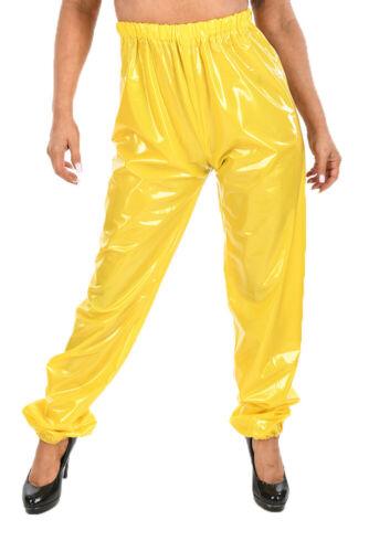 PVC Jogging transpire Sauna Pluie Pantalon Gummihose jaune brillant
