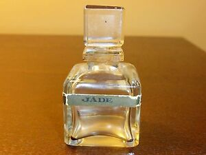 "Extremely Rare Collectible Perfume Bottle ""Jade La Habana"" with Glass Stopper"