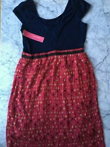 ce40b0f41b0 Short Sleeve Pleated Asymmetrical Dress Blue Pink Dot - Xhilaration ...