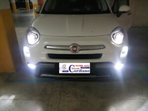 Lampadina Luci Diurne Fiat 500 : Conversione luci diurne drl led luci targa led canbus 6000k fiat