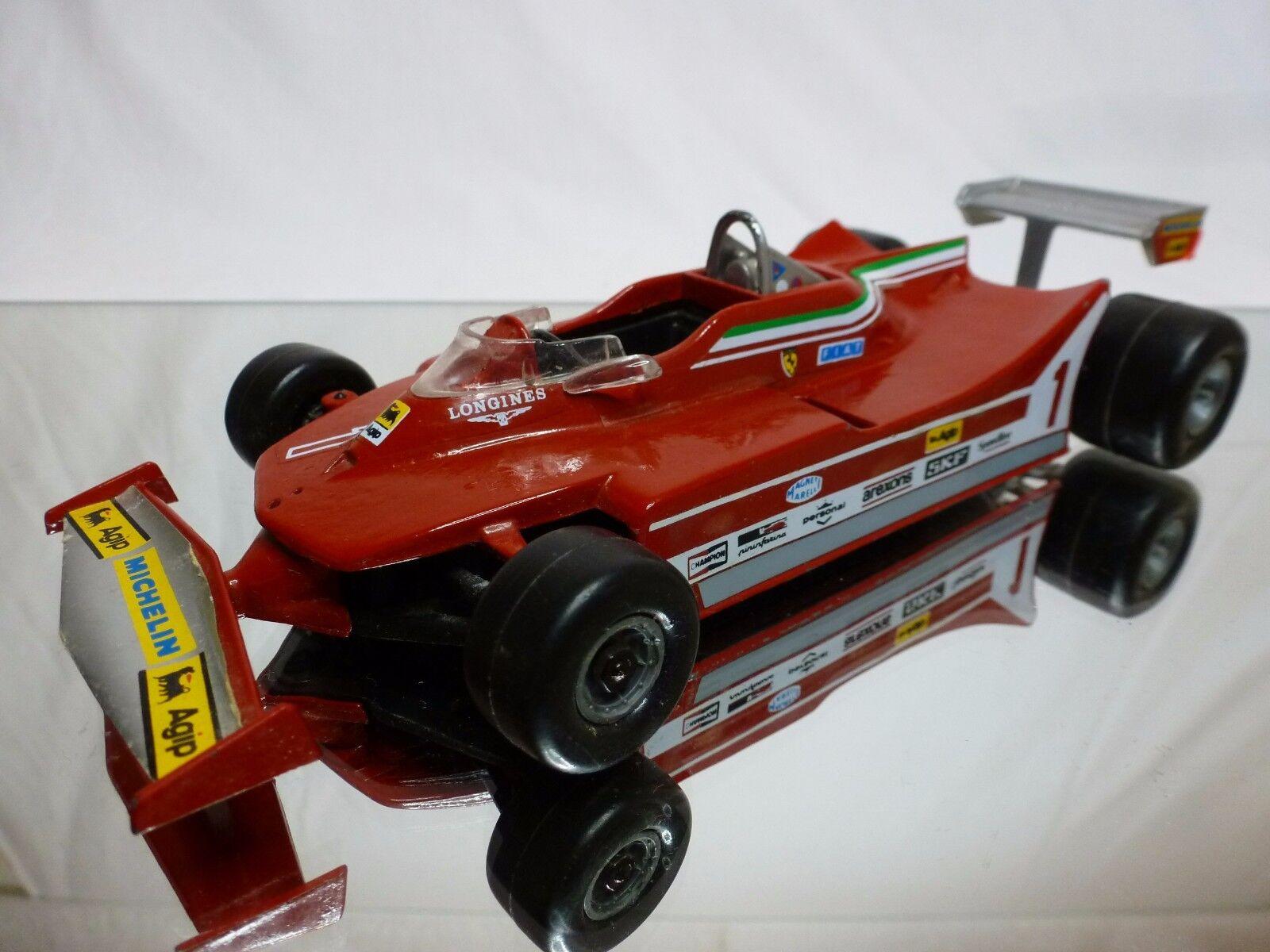 POLISTIL FG7 FERRARI 312 T5 - AGIP MICHELIN No 1 - RACE CAR F1 rouge 1 22 - RARE