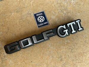 Mk1-Golf-GTI-Cabriolet-Rear-GOLF-GTI-Badge-NEW-OEM-191853687C