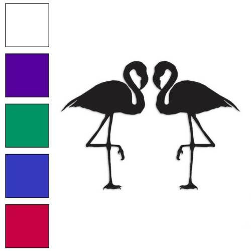 Size #317 Pair of Flamingos Decal Sticker Choose Color