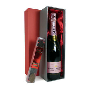 Image is loading 75cl-Champagne-Gift-Moet-et-Chandon-Rose-with-