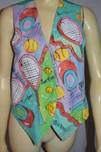 Encore for Silkscapes Women's Hand painted TENNIS