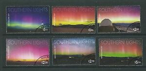 NEW-ZEALAND-2017-SOUTHERN-LIGHTS-SET-OF-6-FINE-USED