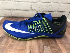 reputable site e3864 ea830 Image is loading Nike-Zoom-Celar-5-Track-Sprint-Spikes-Blue-