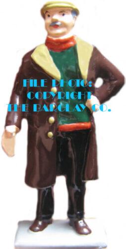 Cast Metal Figure By Barclay #1443 Man In Heavy Coat