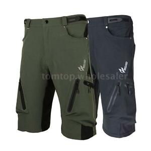 Men-039-s-Cycling-Mountain-Bike-MTB-Bicycle-Baggy-Shorts-Pants-Zippered-Pockets