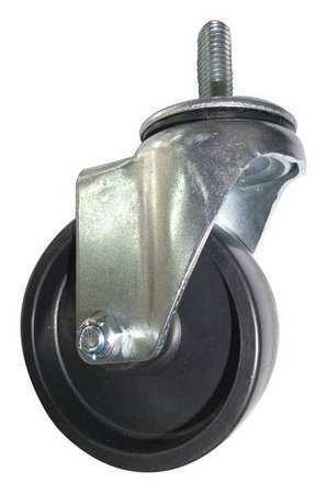 Zoro Select 20Tm48 Swivel Stem Caster,Poly,4 In.,275 Lb,Blk