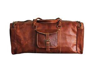 Bag Leather Travel Duffle Gym Holdall Mens Overnight Weekend Duffel ... 7ddd0bf4ce1ed