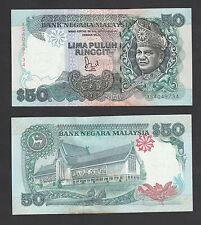 6th RM50 Jaffar Sign 1st Prefix #XS4049734 BA Banknote - UNC minor foxing