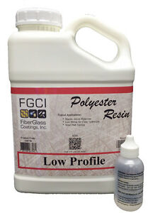 FGCI Low Profile Polyester Resin Kit, 1 Gallon Resin with 2 oz MEKP 137639