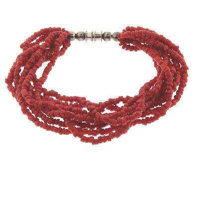 8/'/'13mm massive red baroque Coral Bracelet