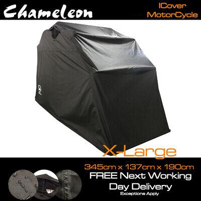 Waterproof Motorbike Dustproof Cover Weather Protector Storage Shelter M Black