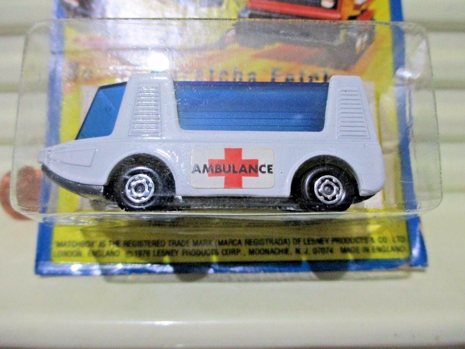 LESNEY MATCHBOX 1971 MB46B Weiß STRETCHA FETCHA Ambulance BARE METAL BASE NuBPk
