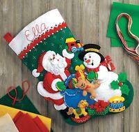 Bucilla Santa & Snowman Felt Stocking Kit on sale