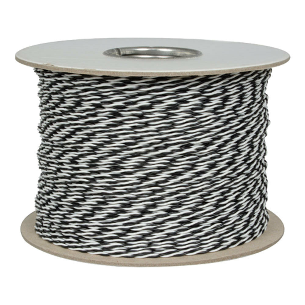 24 AWG Stranded Twisted Pair Cable Hook-up Wire 1000 Feet Black ...