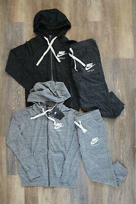 NWT Nike Women's Vintage Sweatshirt Capri Sweatpants Black Gray XS S M |  eBay
