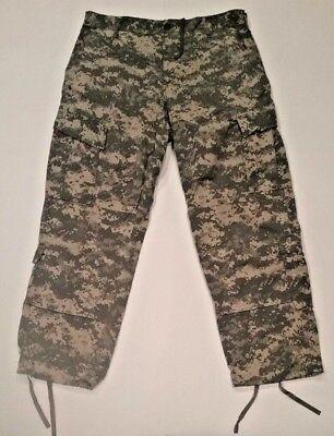 ACU Pants//Trousers Medium X-Short USGI Digital Camo Cotton//Nylon Ripstop Army