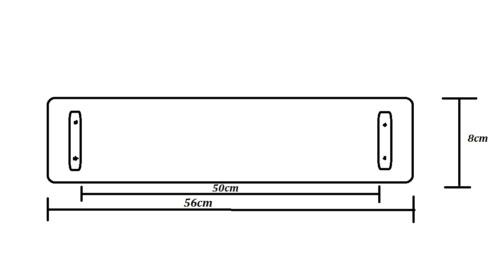 60x52cm Wallario Herdabdeckplatte 2-teilig aus Glas Heiße brennende