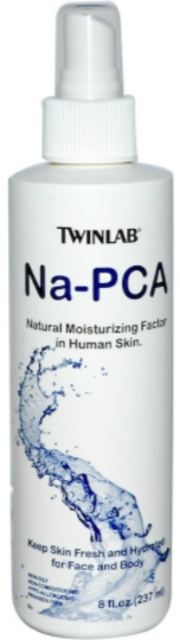 NEW TWINLAB NA-PCA FOR FACE AND BODY DIETARY SUPPLEMENT HYPOALLERGENIC SKIN CARE