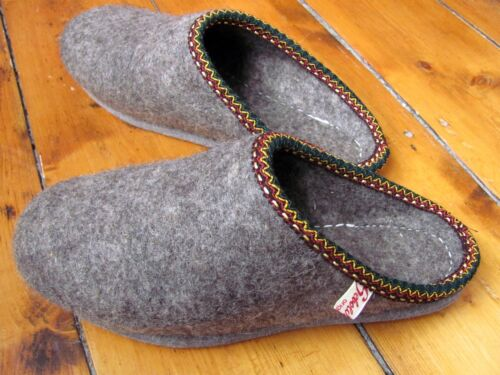 Felt Wool 100 Hand Made Unisex Slippers Thermal Mule Women Natural Traditional qwHgPtW