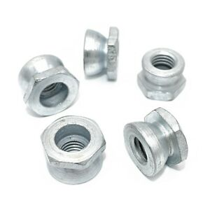T HEAD BOLT M6 M8 M10 M12 M16 SECURITY SHEAR NUTS  ZINC USE WITH OUR SADDLE