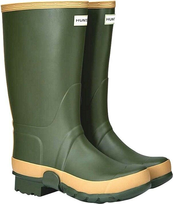 Hunter Women's Field Tall Gardener Wellies Size 4 UK - Green A