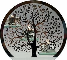 Tree Of Life Silver Glass Triple Tea Light Candle Holder Ornament  New With  Box