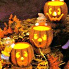 Ceramic Bisque Ready to Paint Pumpkin Candle Holder Votive Holder 2 Piece Set