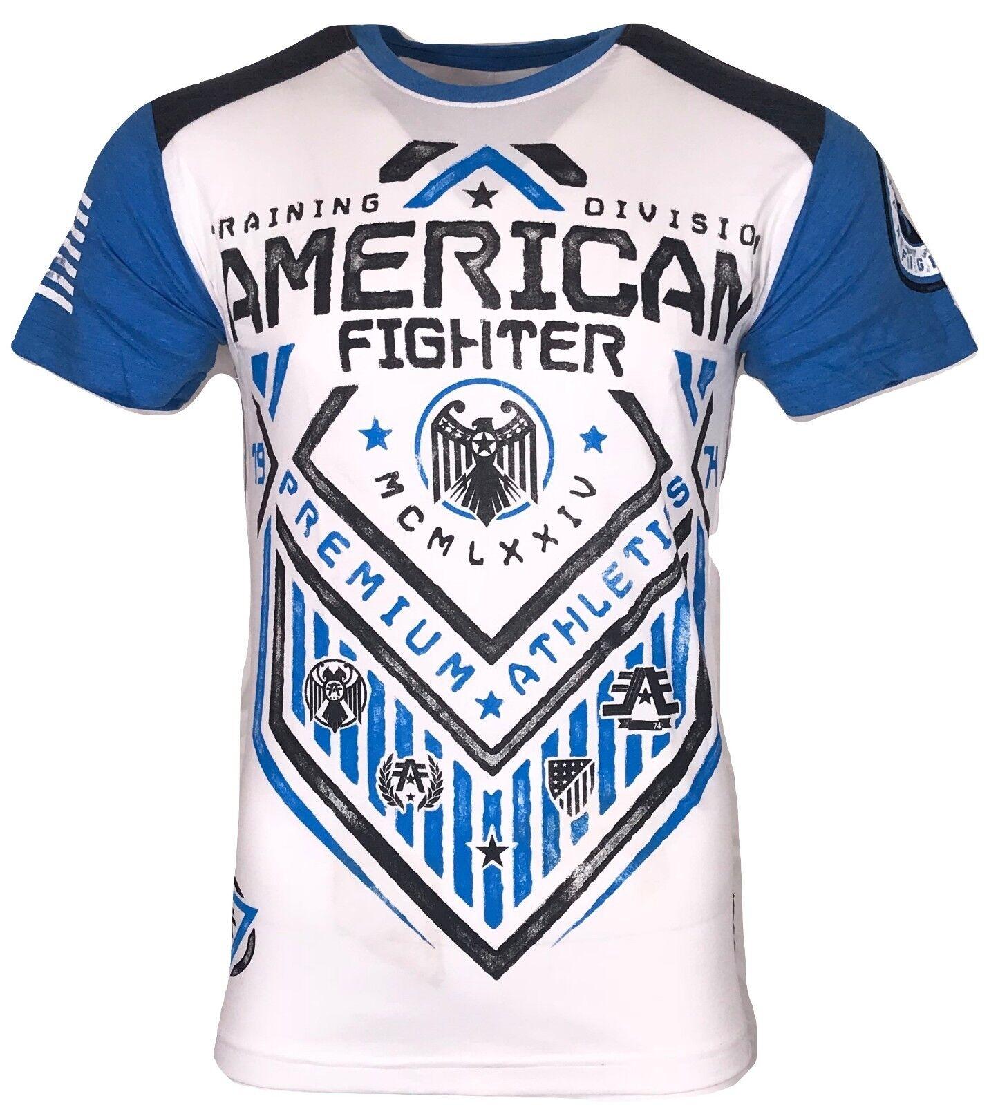 AMERICAN FIGHTER Mens T-Shirt N DAKOTA ART Athletic Biker MMA Gym UFC