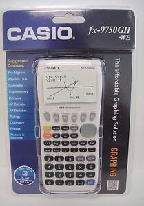 New-Sealed-Casio-fx-9750GII-Graphing-Calculator-White
