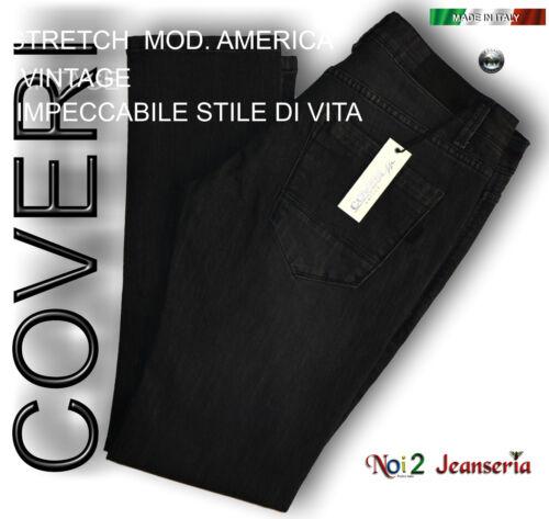 JEANS COVERI BLACK EFFETTO VINTAGE STRETCH TASCHE AMERICA  Mis 50 52 54