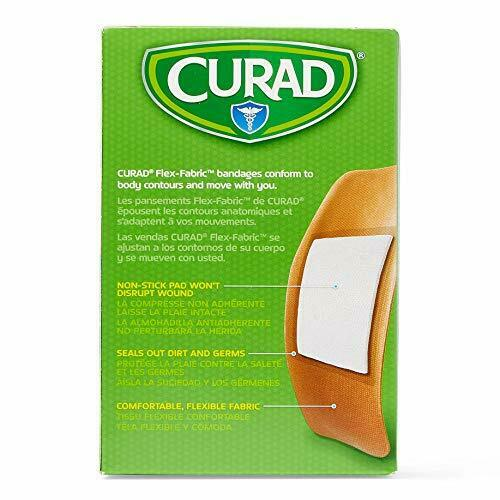 2 x 4... Curad Flex-Fabric Adhesive Bandages with Stretch to Conform Wounds